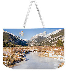 Winter At Horseshoe Park In Rocky Mountain National Park Weekender Tote Bag