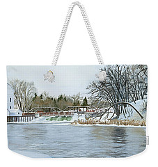 Winter At Phelps Mill Weekender Tote Bag
