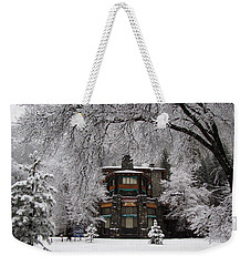 Winter At The Ahwahnee In Yosemite Weekender Tote Bag