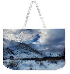 Winter At Tryfan Weekender Tote Bag