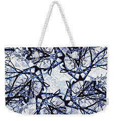 Winter Blue Kaleidoscope 2 Weekender Tote Bag