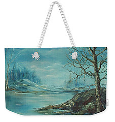 Winter Blue Weekender Tote Bag