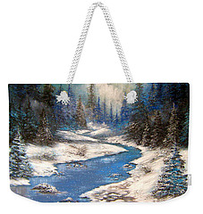 One Little Blue Weekender Tote Bag