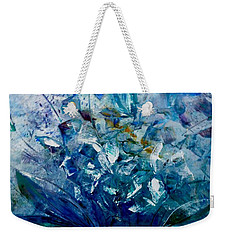 Weekender Tote Bag featuring the painting Winter Bouquet by Lisa Kaiser