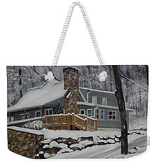 Winter - Cabin - In The Woods Weekender Tote Bag