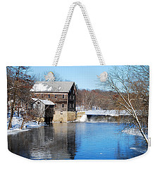 Winter Capture Of The Old Jaeger Rye Mill Weekender Tote Bag