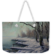 Winter Coming On The Riverside Weekender Tote Bag