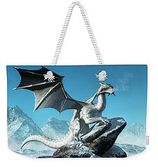 Winter Dragon Weekender Tote Bag