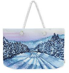 Winter Drive Weekender Tote Bag