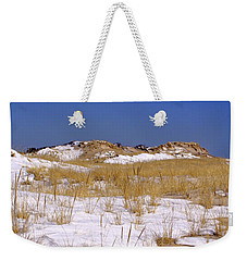 Weekender Tote Bag featuring the photograph Winter Dunes Fire Island by Karen Silvestri