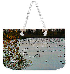 Winter Escape Gathering Weekender Tote Bag by Teresa Zieba