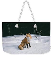 Winter Fox Weekender Tote Bag by David Porteus