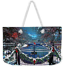 Weekender Tote Bag featuring the digital art Winter Garden by Michael Rucker