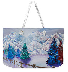 Winter Glow Weekender Tote Bag