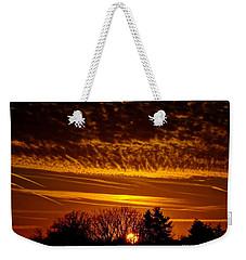 Winter Gold Weekender Tote Bag