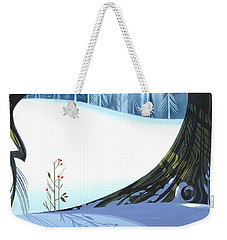Weekender Tote Bag featuring the painting Winter Grace by Michael Humphries