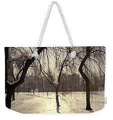 Willows In Winter Weekender Tote Bag by Henryk Gorecki