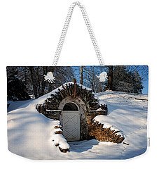 Winter Hobbit Hole Weekender Tote Bag