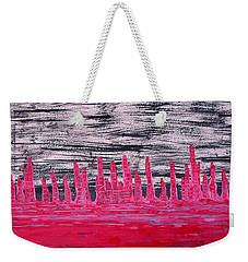 Winter Hoodoos Original Painting Weekender Tote Bag