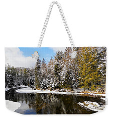 Weekender Tote Bag featuring the photograph Winter Impressions ... by Juergen Weiss