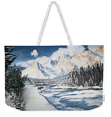 Winter In The Canadian Rockies Weekender Tote Bag