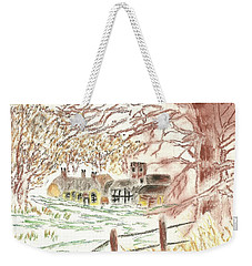 Winter In The Village Weekender Tote Bag by Tracey Williams