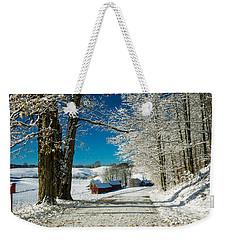 Winter In Vermont Weekender Tote Bag by Edward Fielding