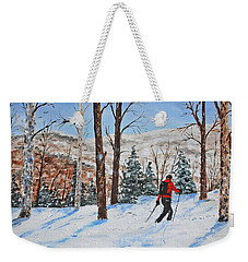 Winter In Vermont Woods Weekender Tote Bag