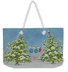 Winter Is Fun Weekender Tote Bag by Mary Ellen Mueller Legault