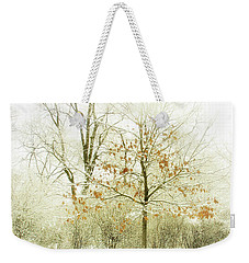 Weekender Tote Bag featuring the photograph Winter Leaves by Julie Palencia