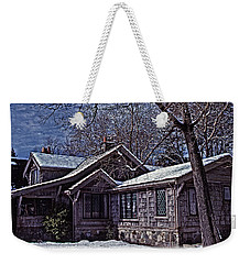 Winter Lodge Weekender Tote Bag