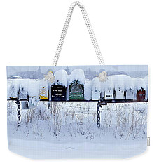 Winter Mailbox Panorama Weekender Tote Bag by Sean Griffin