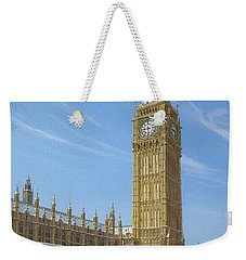 Winter Morning Big Ben Elizabeth Tower London Weekender Tote Bag by Richard Harpum