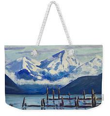 Winter Mountains Alaska Weekender Tote Bag