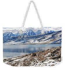 Winter Mt. Timpanogos And Deer Creek Reservoir Weekender Tote Bag