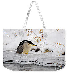 Winter Night Heron Weekender Tote Bag