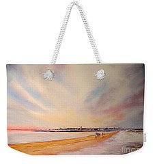 Winter On St Andrews Scotland Weekender Tote Bag