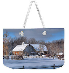 Weekender Tote Bag featuring the photograph Winter On The Farm 14586 by Guy Whiteley
