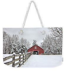 Winter On The Farm Weekender Tote Bag by Benanne Stiens