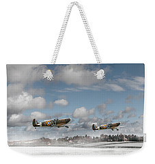 Winter Ops Spitfires Weekender Tote Bag by Gary Eason