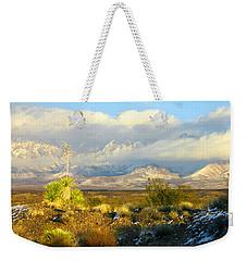 Winter In The Organ Mountains Weekender Tote Bag by Jack Pumphrey