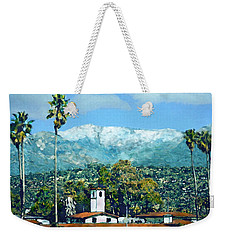 Winter Paradise Santa Barbara Weekender Tote Bag