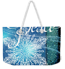 Winter Peace Greeting Weekender Tote Bag