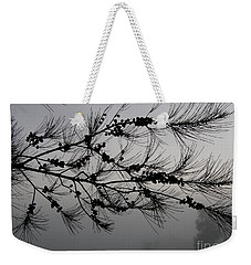 Winter Pine Branch Weekender Tote Bag
