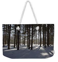 Winter Pines Weekender Tote Bag