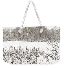 Winter Pond Weekender Tote Bag