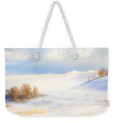 Winter Poplars Weekender Tote Bag