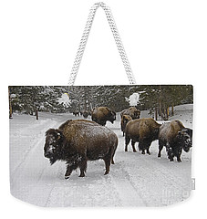 Winter Procession-signed Weekender Tote Bag