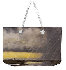 Winter Rain Weekender Tote Bag