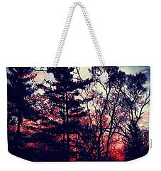 Winter Red Weekender Tote Bag